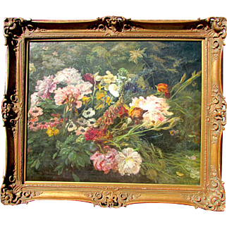 Antique Floral Still Life Painting. C.1900