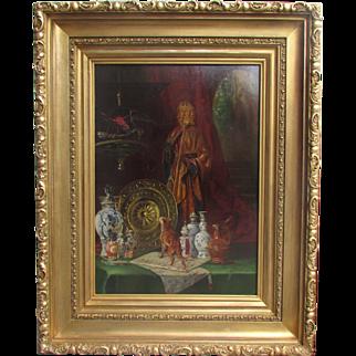 Clémence Van Den Broeck (Belgian, 1843-1922) Still Life Oil on wood panel Painting