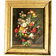 Old Master Dutch 17th-18th c. Painting. Floral Still Life.