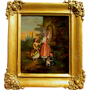19th C.  European Small Genre Painting