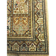 Persian Oriental Fine Tabriz Wool Ivory Hand Knotted 4'x6'