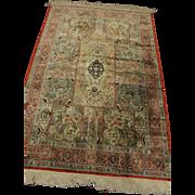 Super Fine %100 Natural Silk Persian Ghom 4.1X6.2 Rug Kpsi 550
