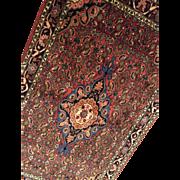 Vintage Hand Made Persian Bijar Wool Rug Medallion Beauty 5'X3'
