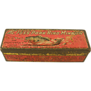 Fishing: Al Foss' original advertising tin box and two fishing lures