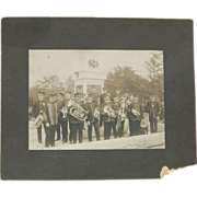 Military band photograph, ca.1910, American, albumen print