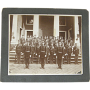 Military band photograph, ca.1910, American, albumen