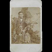 Boy taxidermist photograph ca.1860's - Rare