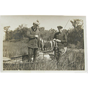 Photograph ca.1910's bass fishermen & canoes