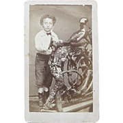 1860's photograph boy taxidermist, Dubuque Iowa