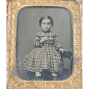 -Child- 9th plate Ambrotype photograph ca.1860's