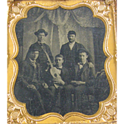 -Entertainers- 6th plate Tintype photograph ca.1870's