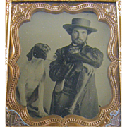 =Handsome Fellow= 6th plate Ambrotype photograph ca.1860's