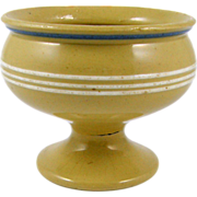 Rare - ca.1850-1900 Yellowware Master Salt