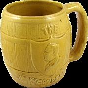 Yellowware ca.1930's democrat President FDR Roosevelt political mug