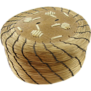 Northern plains Indian sweet grass basket ca.1970's