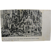 1898 Hunting & Trapping 1898, Wayne County Pennsylvania - RPPC