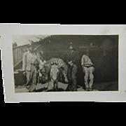 RPPC, hunting jaguar ca.1930's, Arizona.
