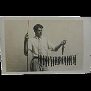 RPPC, trout fishing ca.1915, eastern U.S.