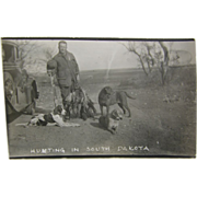 RPPC, 1937, pheasant hunting, Model A, South Dakota