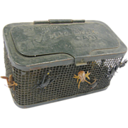 Bait box cricket cage Trenton Ohio Stamping Company