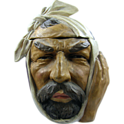 ca.1900 figural head pipe tobacco humidor, Dental Patient