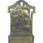 President Lincoln paperholder or paperclip ca.1900, cast iron, office or library