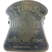 Richmond Virginia, advertising paperholder or paperclip ca.1900, office or library