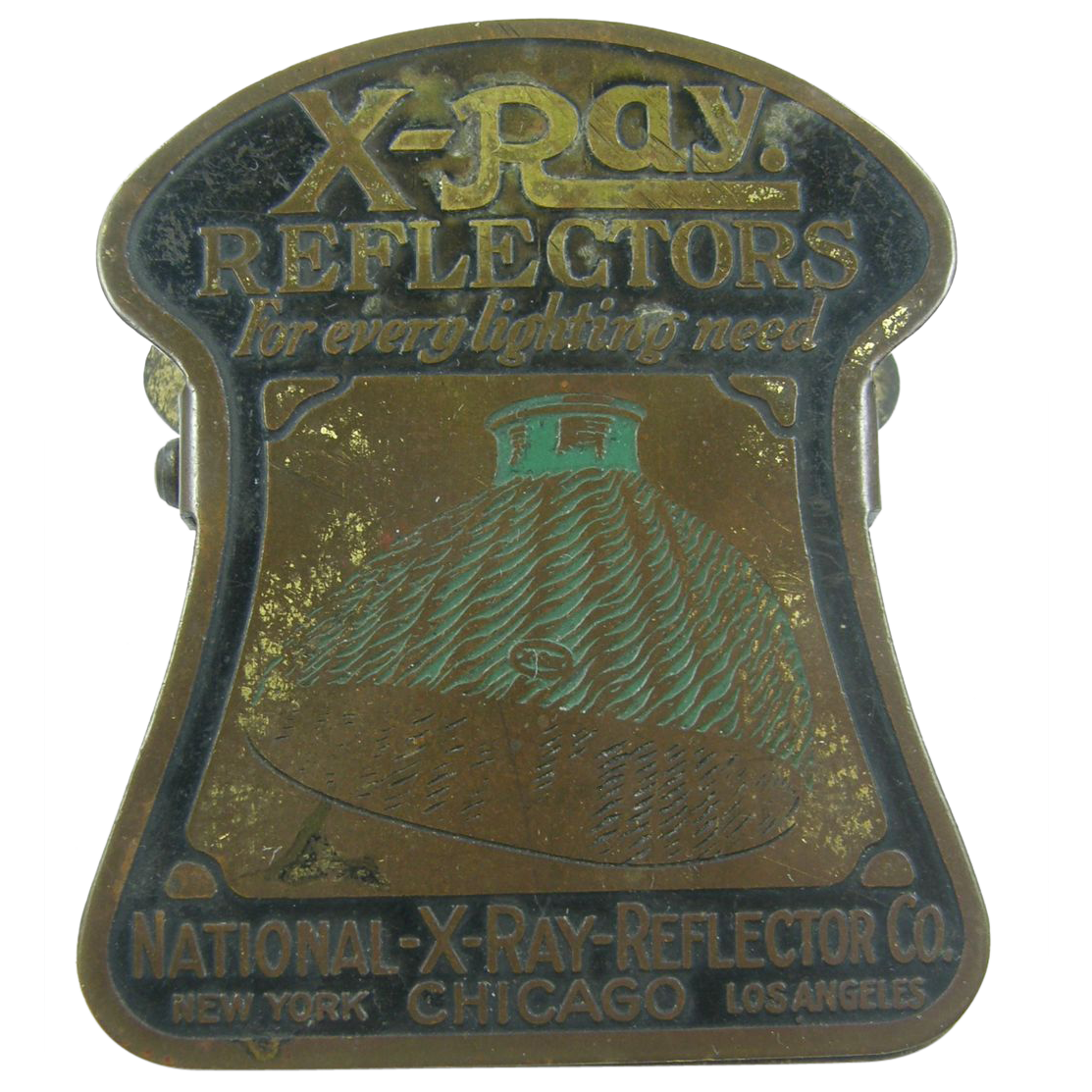 Ray reflectors advertising paperholder or paperclip ca.1915 office  #888844