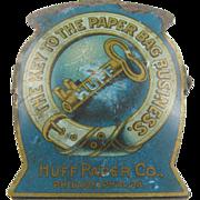 Paperholder, ca.1910, Huff Paper Bag, Philadelphia PA