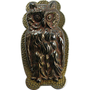 Owls =PAIR= paperholder or paperclip ca.1880, office or library