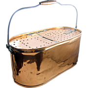 =RARE= Copper minnow bait bucket, Kentucky, ca.1900, oval