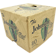 Johnson Model 80 fishing reel box, Mankato, MN