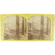 =RARE= 1872 Stereoview, Boston Massachusetts Great Fire, $74M damages