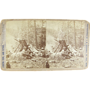 -SCARCE- 1880 Stereoview by Ingersoll, Yellowstone California camping scene