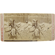 =RARE= 1910's antique stereoview by Ingersoll, fishing California, canoes