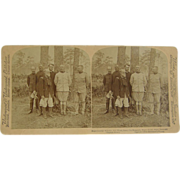 -SCARCE- 1900 antique stereoview, Tampa, Roosevelt Rough Riders, Span-Am War