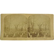 1870's Civil War graves, Arlington Cemetery - antique stereoview