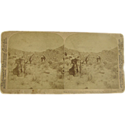 1900 Boer War, South Africa, British Infantry - antique stereoview