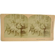 1870 African-American, visiting preacher - antique stereoview