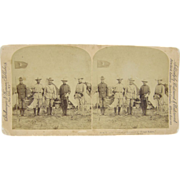 1898 T.R., Span-Am War, Roosevelt & Rough Riders, Tampa - antique stereoview