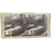 1898 Span-Am War, First New York departing San Francisco California, Antique stereoview