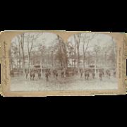 1898 Span-Am War, Bayonet Drill, Chickamauga, Georgia - Antique stereoview
