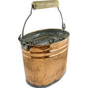 1880's Oval copper minnow bait bucket, Kentucky