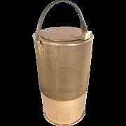 1915's Cylindrical COPPER minnow bait bucket, Norfolk Shipyards