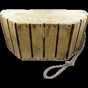 1880's WOOD minnow bait bucket, Virginia