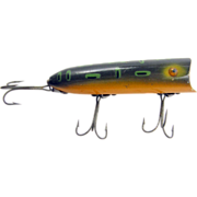 Fishing lure, 1920's Heddon Lucky 13, pike wood plug