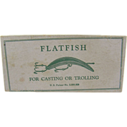 Fishing lure, 1930's Flatfish, Helin Tackle Co. Detroit