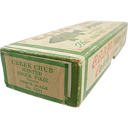 "Fishing lure box, CCBCO, Creek Chub box 7.5""L, for a Jointed Snook N. 5501"