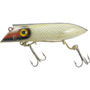 Fishing lure, 1940's Martin wood Pearl Red Head plug