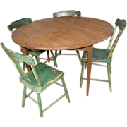 =Original Surface= Breakfast table ca.1875, heart pine scrub top, Virginia